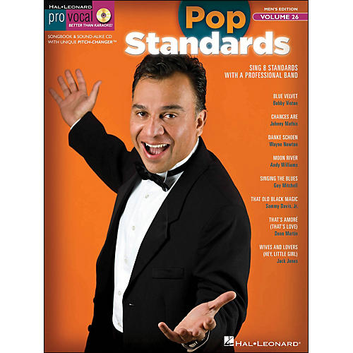 Hal Leonard Pop Standards - Pro Vocal Songbook & CD for Male Singers Volume 26