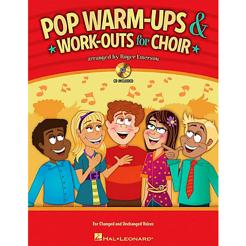 Hal Leonard Pop Warm-ups & Work-outs for Choir Book and CD pak arranged by Roger Emerson