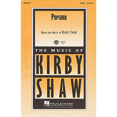 Hal Leonard Popcorn 2-Part composed by Kirby Shaw