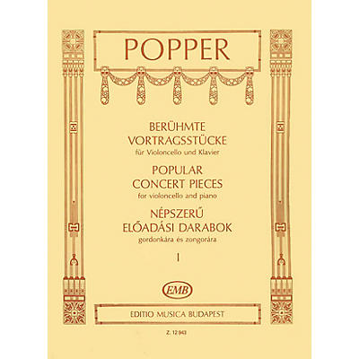 Editio Musica Budapest Popular Concert Pieces - Volume 1 (Cello and Piano) EMB Series Composed by Dávid Popper