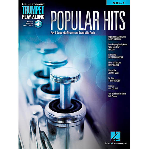Hal Leonard Popular Hits - Trumpet Play-Along Vol. 1 (Book/Audio Online)