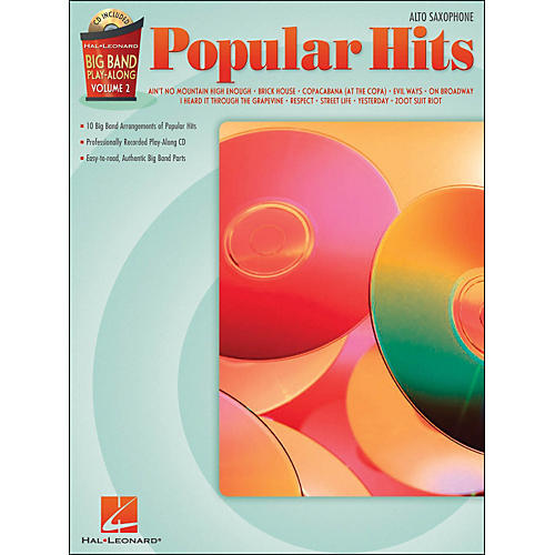 Hal Leonard Popular Hits Big Band Play-Along Volume 2 Alto Sax Book/CD