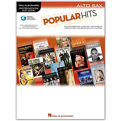 Hal Leonard Popular Hits For Alto Sax - Instrumental Play-Along Book/Online Audio