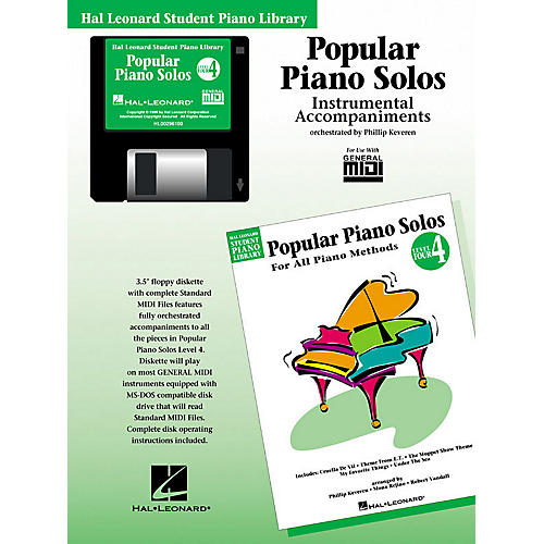 Hal Leonard Popular Piano Solos - Level 4 - GM Disk Piano Library Series Disk