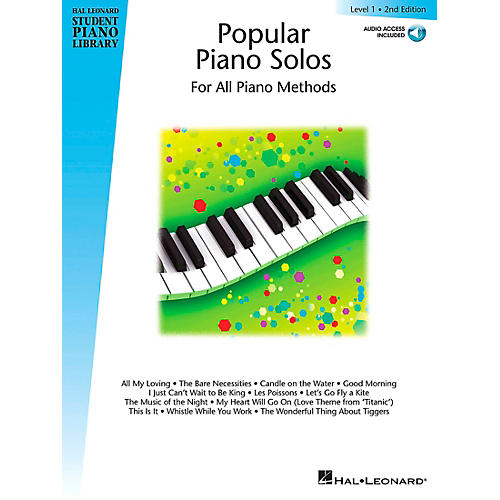 Hal Leonard Popular Piano Solos 2nd Edition - Level 1 Educational Piano Library Book with CD (Level Early Elem)