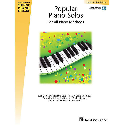 Hal Leonard Popular Piano Solos 2nd Edition - Level 3 Educational Piano Library Softcover Audio Online by Various