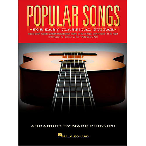 Hal Leonard Popular Songs For Easy Classical Guitar (With Tab)
