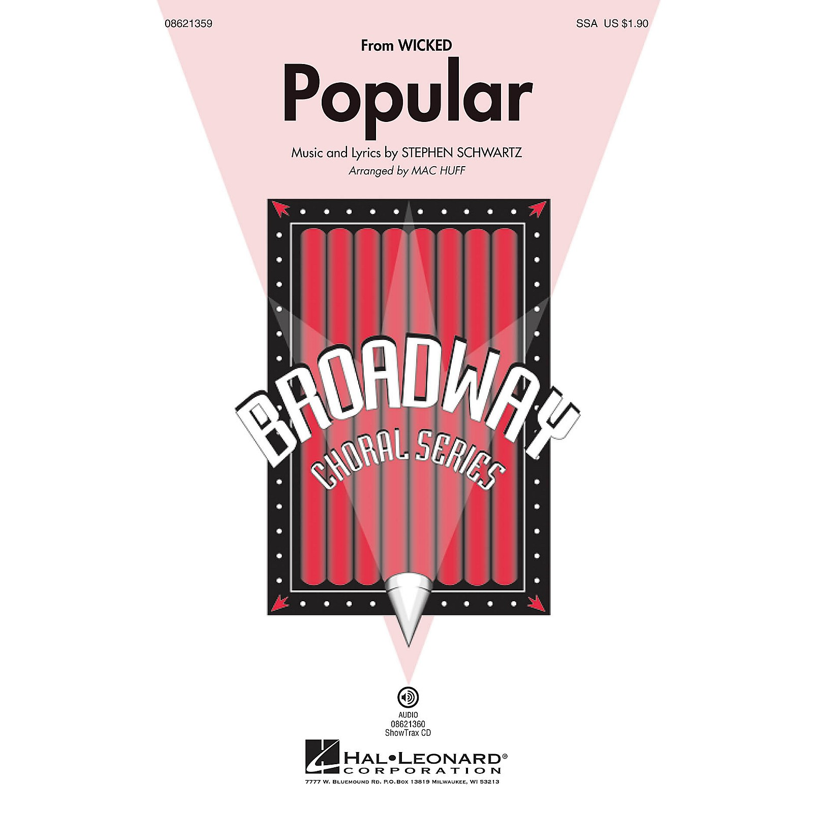 Hal Leonard Popular (from Wicked) SSA arranged by Mac Huff