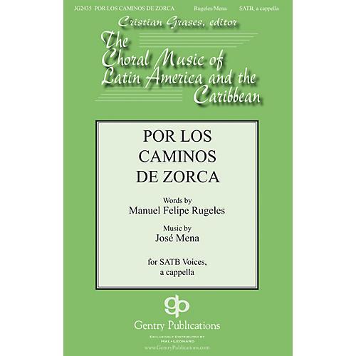 Gentry Publications Por Los Caminos SATB a cappella composed by Jose Mena