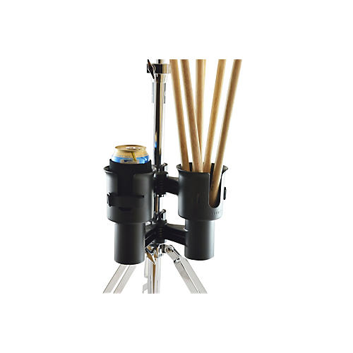 RoboCup Portable Musician Drink Caddy and Drum Stick Holder Black