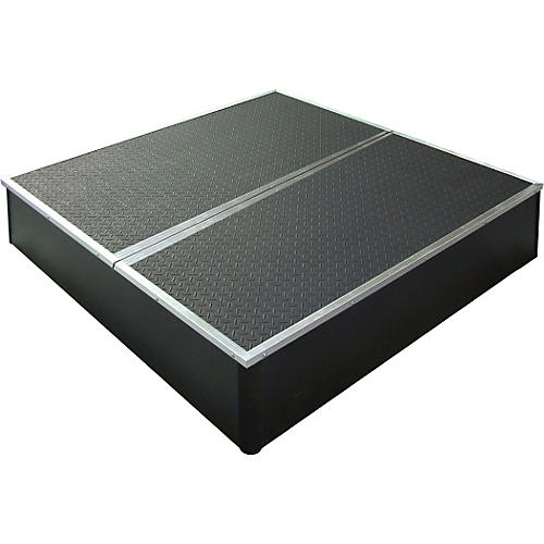 Control Acoustics Portable Stage with Rubber Diamond Mat Surface 4 x 4 ft.