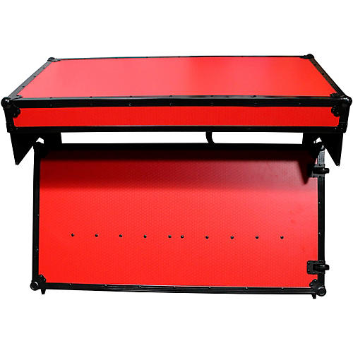 ProX Portable Z-Style Dj Table Flight Case - Red/Black (XS-ZTABLERB)