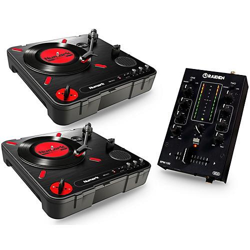 Numark Portablism Battle Bundle with PT-01 Scratch Turntables and RPM-100 Portable DJ Mixer