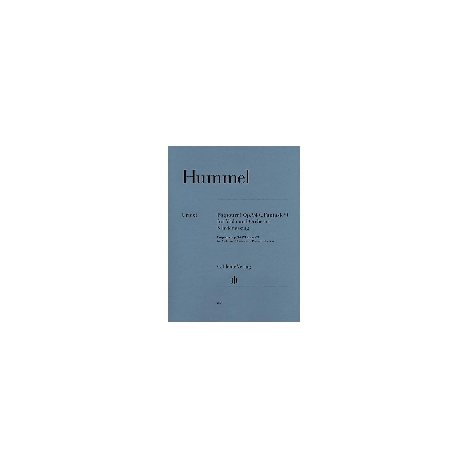 G. Henle Verlag Potpourri Op. 94 (Fantasy) Henle Music Folios Series Softcover