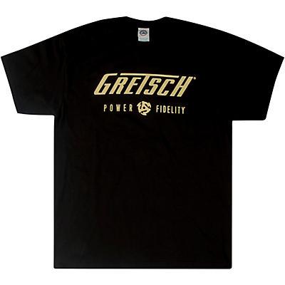 Gretsch Power & Fidelity Logo T-Shirt - Black