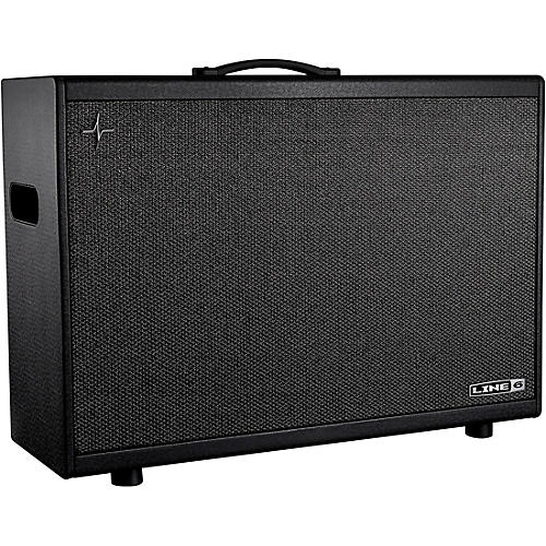 Line 6 Powercab 212 Plus 500W 2x12 Powered Stereo Guitar Speaker Cab Black and Silver