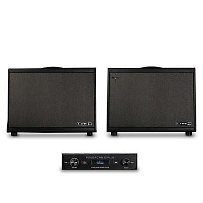 Line 6 Powercab and Powercab Plus 112 250W 1x12 FRFR Powered Speaker Cab Bundle
