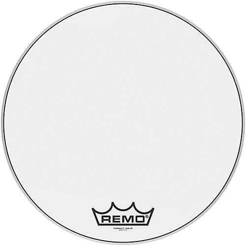 Remo Powermax 2 Ultra White Crimplock Bass Drum Head 22 in.