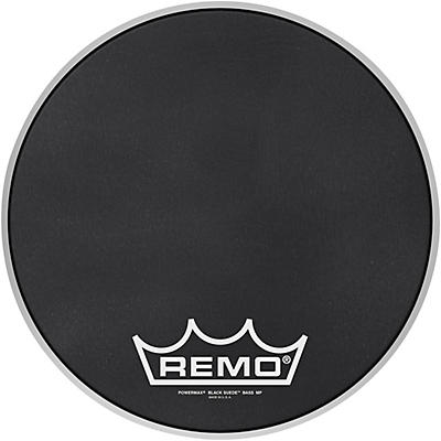 Remo Powermax Black Suede Crimplock Bass Drum Head