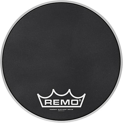 Remo Powermax Black Suede Crimplock Bass Drum Head 14 in.