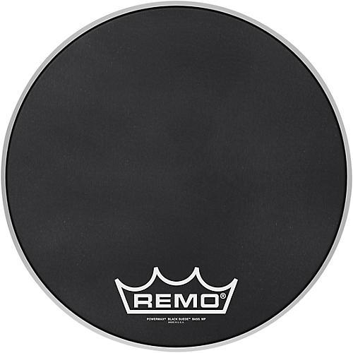 Remo Powermax Black Suede Crimplock Bass Drum Head 16 in.