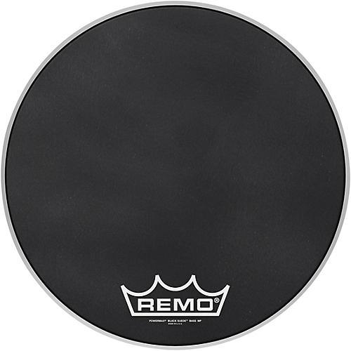 Remo Powermax Black Suede Crimplock Bass Drum Head 18 in.