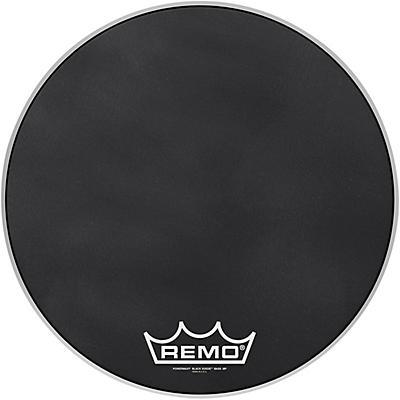 Remo Powermax Black Suede Crimplock Bass Drum Head