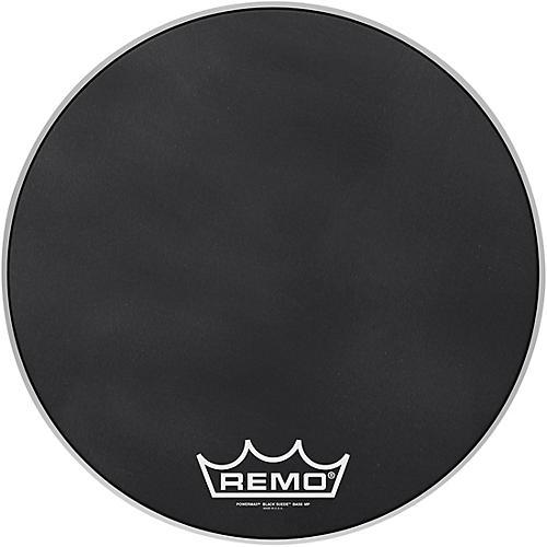 Remo Powermax Black Suede Crimplock Bass Drum Head 20 in.