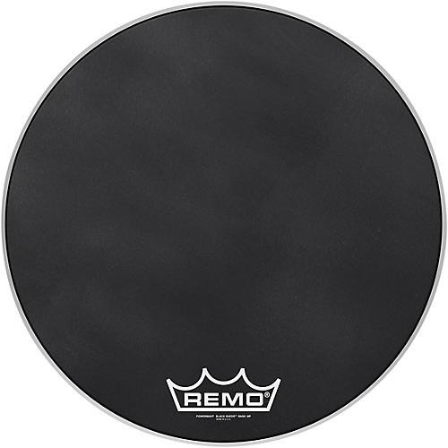 Remo Powermax Black Suede Crimplock Bass Drum Head 22 in.