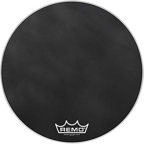 Remo Powermax Black Suede Crimplock Bass Drum Head 24 in.