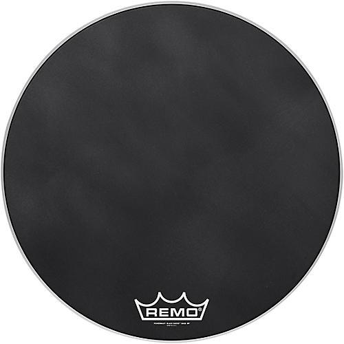 Remo Powermax Black Suede Crimplock Bass Drum Head 26 in.