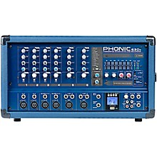 Open Box Phonic Powerpod 630R 300W 6-Channel Powered Mixer with USB Recorder