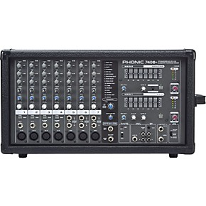 phonic powerpod 740 plus 2x220w 7 channel powered mixer with digital effects musician 39 s friend. Black Bedroom Furniture Sets. Home Design Ideas