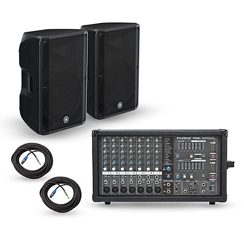 Phonic Powerpod 780 Plus Mixer with CBR Speakers PA Package