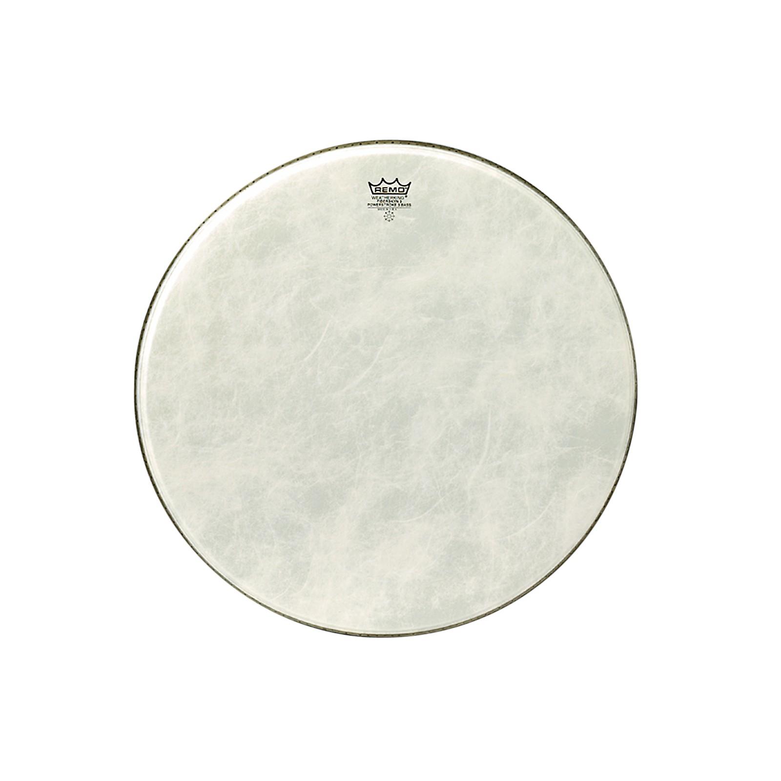 Remo Powerstroke 3 Simulated Calfskin Fiberskyn FA Bass Drumhead