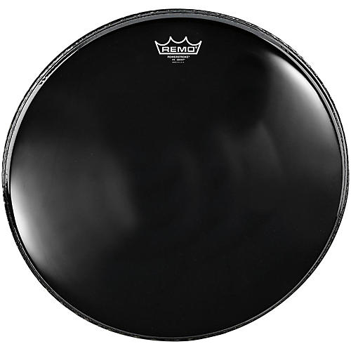 remo powerstroke 4 ebony batter bass drum head with impact patch 32 in musician 39 s friend. Black Bedroom Furniture Sets. Home Design Ideas