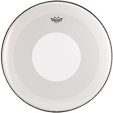 Powerstroke 4 Smooth White Batter Bass Drum Head with White Dot 24 in.