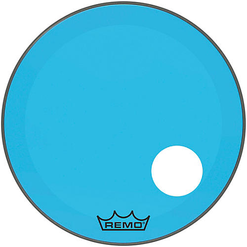 Remo Powerstroke P3 Colortone Blue Resonant Bass Drum Head with 5
