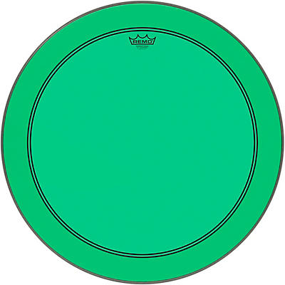 Remo Powerstroke P3 Colortone Green Bass Drum Head