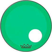 "Remo Powerstroke P3 Colortone Green Resonant Bass Drum Head 5"" Offset Hole"