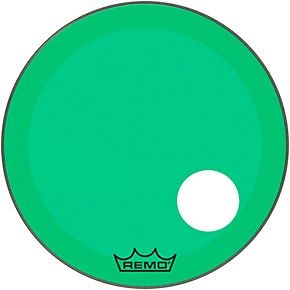remo powerstroke p3 colortone green resonant bass drum head 5 offset hole 22 in musician 39 s. Black Bedroom Furniture Sets. Home Design Ideas
