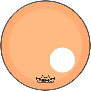 remo powerstroke p3 colortone orange resonant bass drum head with 5 offset hole 24 in. Black Bedroom Furniture Sets. Home Design Ideas