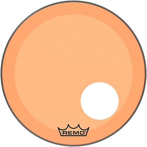 Remo Powerstroke P3 Colortone Orange Resonant Bass Drum Head with 5