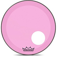 Powerstroke P3 Colortone Pink Resonant Bass Drum Head with 5