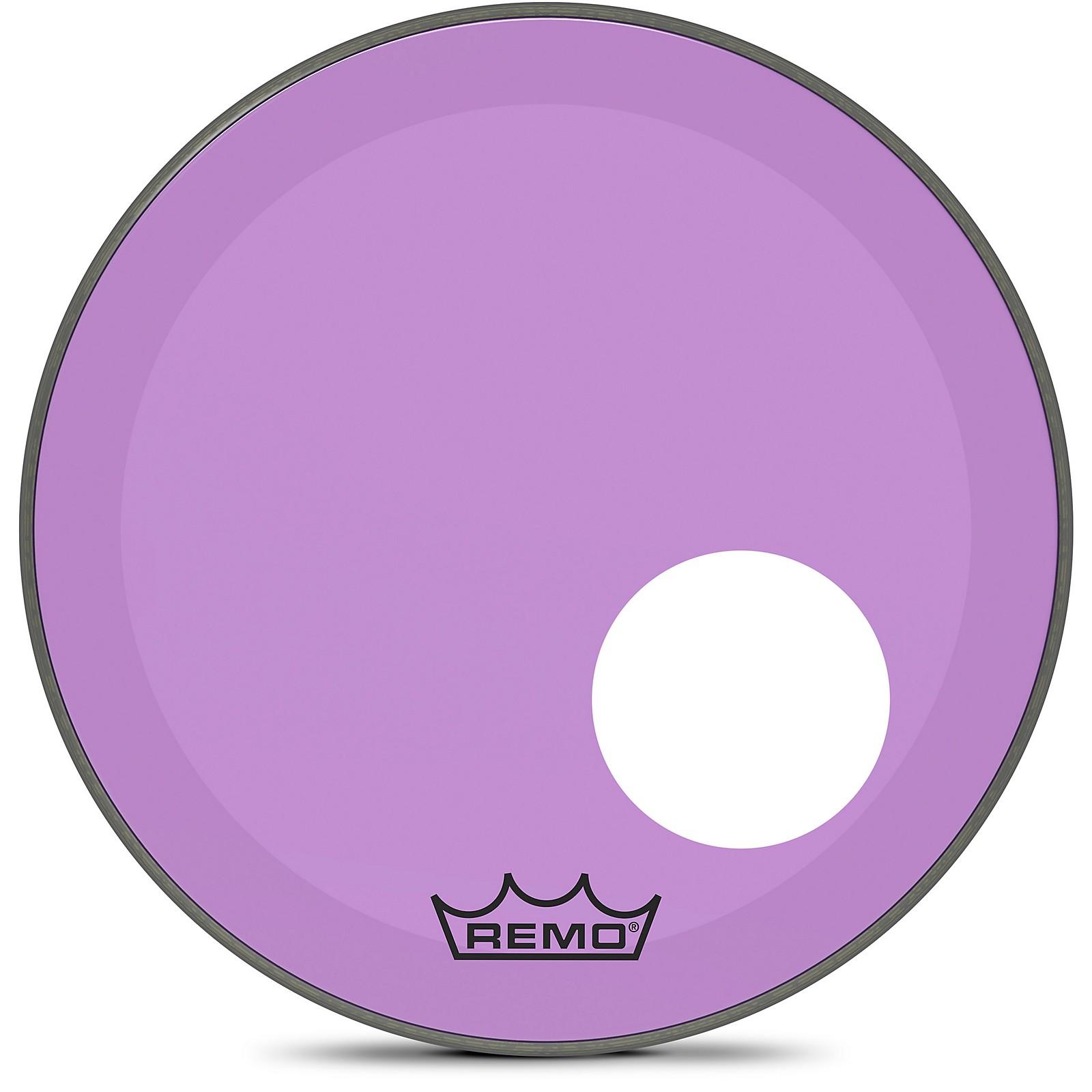 Remo Powerstroke P3 Colortone Purple Resonant Bass Drum Head with 5