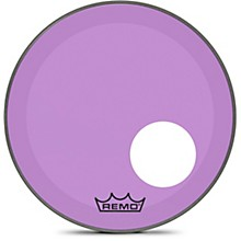 "Remo Powerstroke P3 Colortone Purple Resonant Bass Drum Head with 5"" Offset Hole"