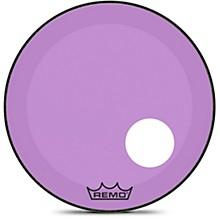 Powerstroke P3 Colortone Purple Resonant Bass Drum Head with 5