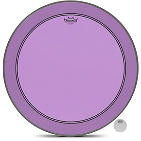 remo powerstroke p3 colortone purple resonant bass drum head with 5 offset hole musician 39 s friend. Black Bedroom Furniture Sets. Home Design Ideas