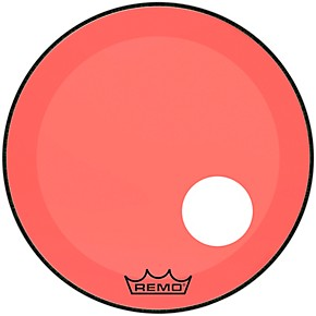 remo powerstroke p3 colortone red resonant bass drum head with 5 offset hole 22 in musician. Black Bedroom Furniture Sets. Home Design Ideas