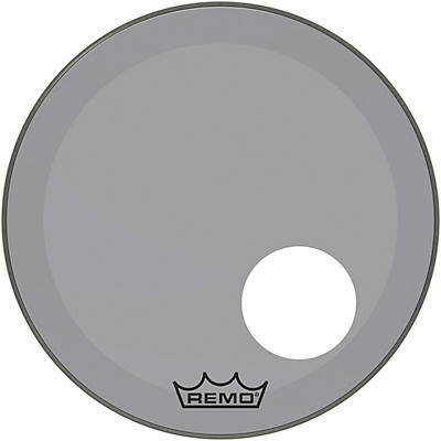 """Remo Powerstroke P3 Colortone Smoke Resonant Bass Drum Head with 5"""" Offset Hole"""